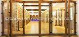 Portello di piegatura di vetro composito di legno di alluminio di prezzi all'ingrosso