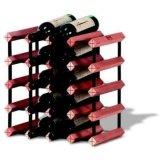 12 het Opschorten van de Wijn van de fles met het Houten Rek van de Wijn van het Bier van de Holding