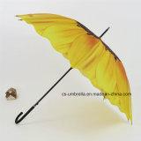 Guarda-chuva reto do girassol com impressão da transferência térmica (YS-S005B)