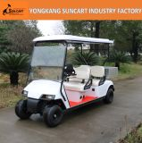 Carro de golfe elétrico para Sightseeing, carro de serviço público do parque de Seater do Ce 4 do golfe com a caixa de alumínio da carga