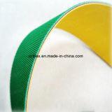 高速ナイロンサンドイッチデザイン黄色か緑の平らな力ゴム製伝達ベルト