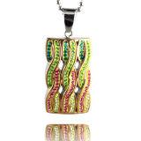 De Speciale Halsband van uitstekende kwaliteit van de Tegenhanger van het Roestvrij staal van CZ van de Manier van het Ontwerp Steen Ingelegde voor Vrouwen