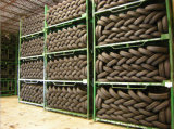Riesiger Metallstahlreifen, der faltbare stapelbare Gummireifen-Transport-Zahnstange versendet