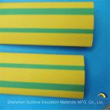 黄色の緑色の熱の収縮の管ワイヤー覆いケーブルの袖(3: 1)