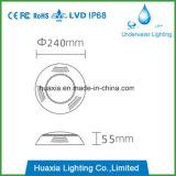 Lámpara ligera subacuática llenada resina de la piscina de IP68 12V RGB/White LED