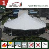 die 15m Breiten-beendet gemischtes hohe Spitzen-Zelt mit Multi-Seite normale Weiß Belüftung-Seitenwände ganz herum