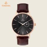 Mens-beiläufiges Uhr-Mann-Wasser-beständiges ledernes Quarz-Armband Watch72386
