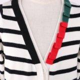 Cardigan à rayures noir / crème pour filles avec perte de version et souplesse manuelle, garde d'entrée couleur contrastée