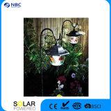 Lampe solaire à gazon à l'extérieur, style jardin hexagonal, à l'extérieur, lampe solaire pour jardin avec lumière blanche / jaune