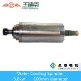 Мотор шпинделя Manufactre 3kw охлаженный водой высокоскоростной трехфазный асинхронный для деревянного высекая маршрутизатора CNC