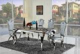 Mobilier de table à manger classique en métal de style européen