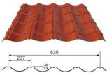 建築材料のための電流を通された鋼鉄屋根ふきシート828のタイプ着色された屋根瓦