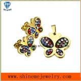 Boucle d'oreille de goutte pour les oreilles plaquée par or d'acier inoxydable de bijou de mode (ERS7002)