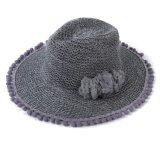 Sombrero floral de la playa de la rafia