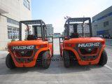 5.0Ton中国エンジン(HH50Z-N6-D、オレンジカラー)を搭載するディーゼルフォークリフト