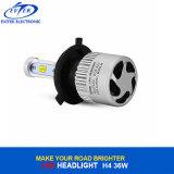 Farol do diodo emissor de luz da lâmpada 36W 4000lm S2 H4 9003 do transporte rápido auto com as microplaquetas coreanas de Csp