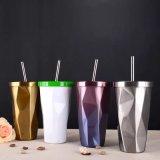 Neuer Entwurfs-doppel-wandiger IsolierEdelstahl-Vakuumthermo Becher für Kaffee (SH-SC05)