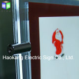 Cadre léger acrylique s'arrêtant de cadre de tableau du système DEL du plafond A4
