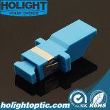 Azul a una cara del Sc del adaptador interno del obturador con el borde