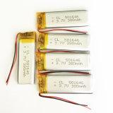 potencia recargable de las pilas de batería del Li-Po del litio del Li-Polímero de 3.7V 380mAh para la cámara 501646 del GPS PSP Bluetooth de la cámara del MP3 DVD