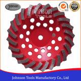 돌과 콘크리트를 위한 180mm 다이아몬드 소용돌이 컵 바퀴 컵 바퀴