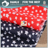 Tessuto 100% di cotone con la stella stampata per l'indumento