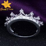 Stsr-16113017王冠は女性純銀製のリングを宝石セットした