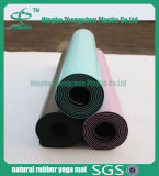 Da esteira colorida da ioga do plutônio da esteira da ioga da borracha natural esteira interna do exercício
