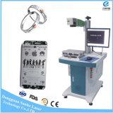 Máquina de grabado rotatoria de la marca del laser de la fibra de la joyería 20W para el plástico de la etiqueta