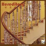 Pasamano decorativo de la fundición de aluminio de la barandilla de la escalera del chalet para la casa (SJ-B001)