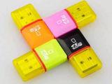 中国の最もよい機密保護の製品USB 2.0小型多彩なTFのカード読取り装置