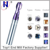CNC Tungsten Solid Carbide 4 Flutes Square Flat Mill Final 2 Flutes Ball Nose End Mill Cutters