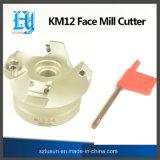 Cortador do moinho de face Km12 para acessórios da máquina do CNC