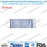 Mascarilla de papel disponible de la prevención 2ply