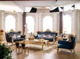 Eckchesterfield-Sofa-Wohnzimmer-Sofa mit echtes Leder-Sofa