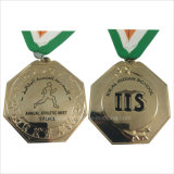 Medalhas goldtone da concessão do vencedor da estrela super