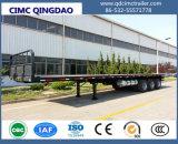 Cimc 40FT 3 Fuwa/BPWの車軸トラクターの平面大型トラックの半実用的なトラックのトレーラー