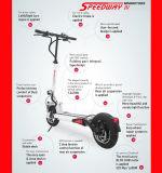 2-3hours scooter électrique de remplissage de coup-de-pied de la vitesse maximale 50km/Hour
