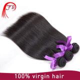 El tejer brasileño del pelo del pelo humano del 100% de la Virgen recta de seda sin procesar de la onda