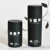 bouteille en plastique noire mate de la poudre 100ml avec le chapeau de tamis (PPC-PB-1701)