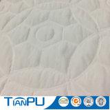Tela circular del colchón del diseño que hace punto blanco