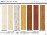Azulejo de suelo de cerámica de madera del azulejo rústico para el material de construcción (VRW6N1591, 150X600m m)