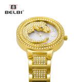 Belbi Luxuxkrokodil-Vorwahlknopf-Entwurfs-Vorwahlknopf-Frauen-Armbanduhr