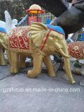 Éléphant de Polyresin, sculpture décorative extérieure en résine