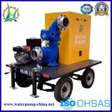 Estación de bomba centrífuga mezclada grande móvil del flujo del motor diesel del flujo