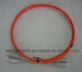 LC-LCのマルチモードデュプレックスOm2の光ファイバケーブルのパッチ・コード