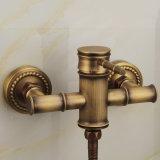 Комплект ливня Flg античный твердый латунный с Faucet установленным стеной
