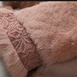 Неподдельн Shearing Кожи новой конструкции повелительницы и шерсти Fox типа куртки шерсти длинней