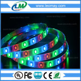 Luz de tira do diodo emissor de luz da cor 12VDC SMD3528 4.8W RGB do diodo emissor de luz RGB