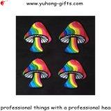 Цветастым вышитый грибом утюг значка на выпечке (YH-EB139)